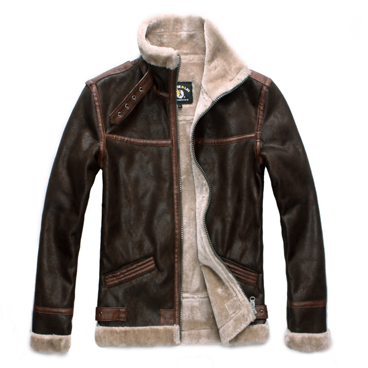 FREE SHIPPING High Quality New Resident Evil 4 Leon Kennedy Leather Jacket Cosplay Costume Faux Fur Coat for Men Plus Size S 4XL
