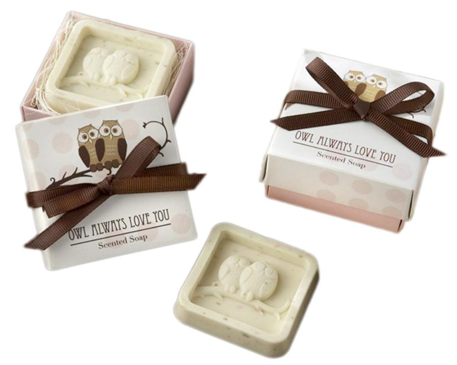 2019 Newly Handmade Owl Design Bath Soap Wedding Valentine Party Love Gift Owl Soap Levert Dropshipping 30p1016