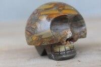 AAA Natural Bamboo Stone Carving Skull Crystal Healing