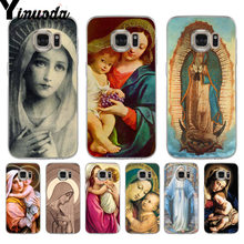Yinuoda Statue Virgin Maria Luxury phone Accessories Case for samsung galaxy S9 plus S7 edge S6 edge plus S5 S8 plus case(China)