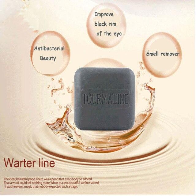 Hot Natural Bamboo Charcoal Soap Black Handmade Soap Remove Blackheads antiaging Wash Face,Bath,Makeup Remover  120g 5