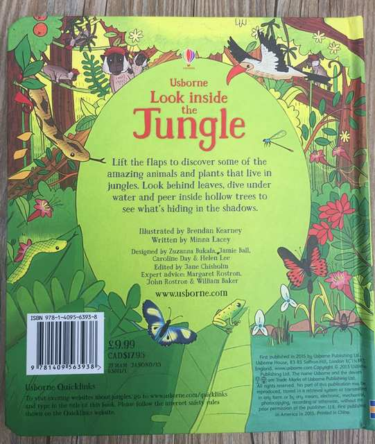 online shop britain english 3d usborne look inside the jungle rh m aliexpress com