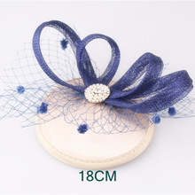 15 Colors classic fabric fascinator hats wedding party veils headpiece cocktail hair accessories bridal millinery hat