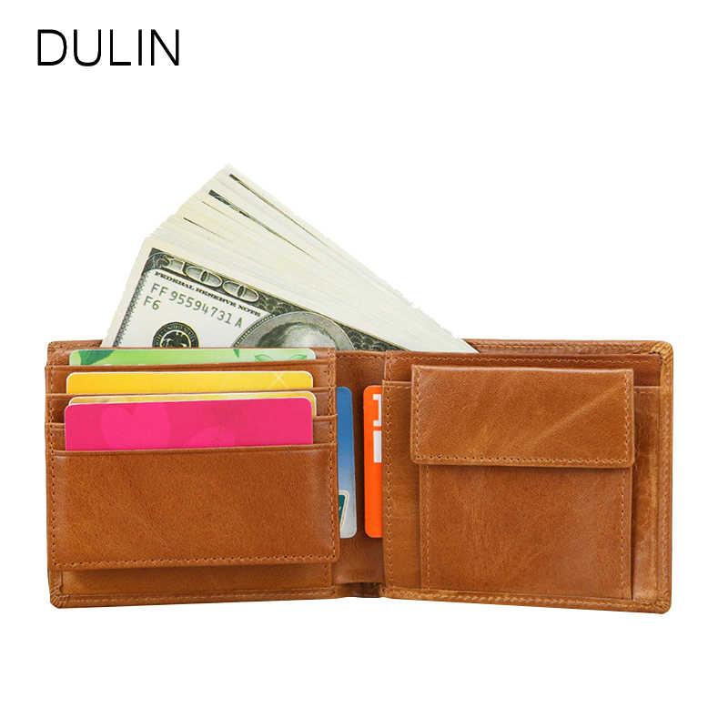 Hombres cartera tarjeta de crédito titular de la foto de cuero genuino ID titular de la tarjeta de crédito/Vintage de los hombres, Cartera de de moda