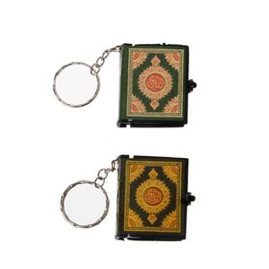 Image 5 - 1  PC Mini Ark Quran Book Real Paper Can Read Arabic The Koran Keychain Muslim Jewelry  Decoration  Gift