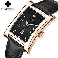 Brand WWOOR Men S Watches Business Quartz Watch Orologio Uomo Quartz Watch Men Vintage Calendar Relogio