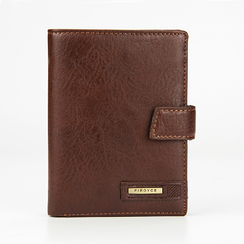 Men Wallets 100% Genuine Leather Wallet Vintage Design Brand Casual Style Multifunction Male Card Holder With Coin Pocket Purse