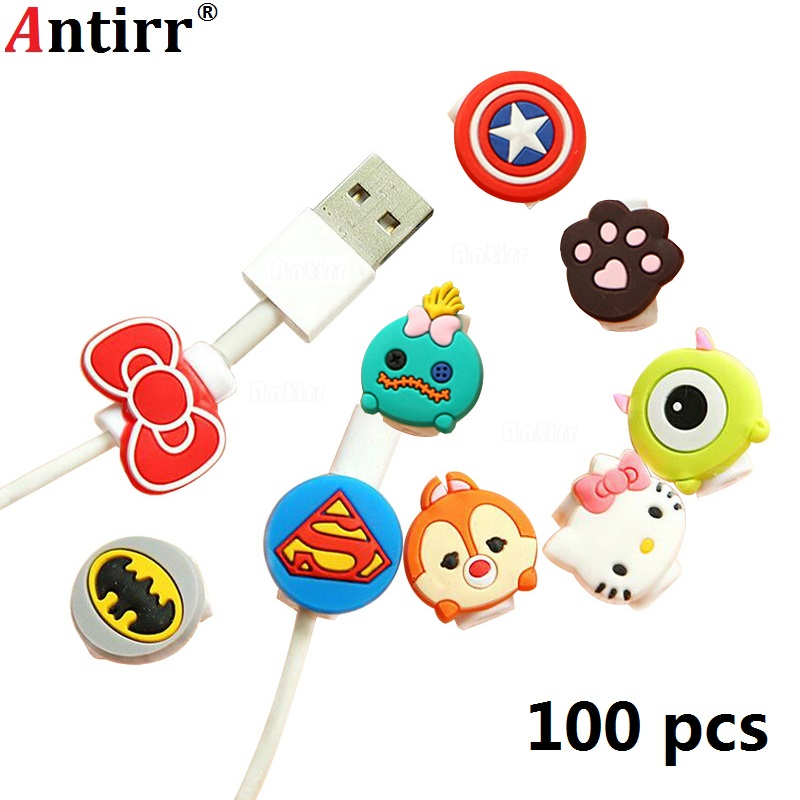 Accessories & Parts Lovely Cartoon Charger Cable Winder Protective Case Saver 8 Pin Data Line Protector Earphone Cord Protection Sleeve Wire Cover Cable Winder