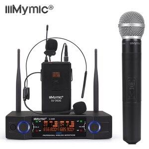 Image 1 - IU 302C UHF 600 700MHz podwójny kanał (pojedyncza częstotliwość) Bodypack + klapa + zestaw słuchawkowy + ręczny mikrofon bezprzewodowy