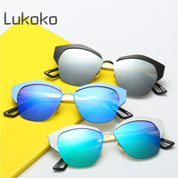 UV400 Ladies Polarized Sunglasses Women Cat Eye Vintage Cool Cateye Female Sun Glasses For Women Reyban