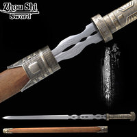China's top ten famous sword Qin Shiming month Cold water sword Handmade Anime Cos props Decoration Metal Crafts