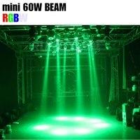 2 pcs 60 W led mini lavagem feixe stage efeito de luz para DJ disco DMX movendo a cabeça leve