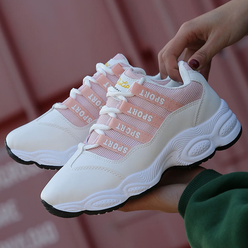Women running shoes ladies outdoor sneakers female thick sole running sneakers tourism and leisure running sneakers women фото