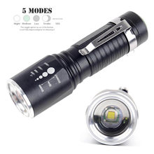 Zoomable T6 Flashlight 8000 Lumens 5 Modes Portable Lamp waterproof Torch 18650 or AAA Battery Tactical Torch Aluminum(China)