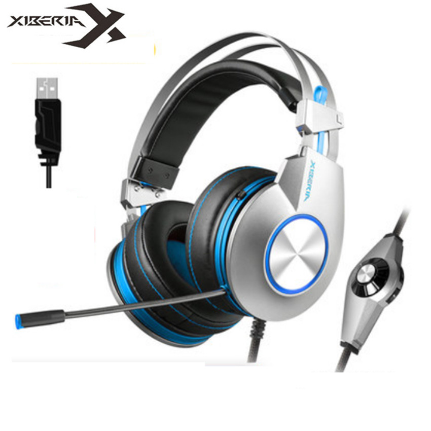 XIBERIA K5 PC Gaming Headset Headphones gaming for Computer Casque USB 7.1 Surround Stereo Headphone with Microphone Led lightXIBERIA K5 PC Gaming Headset Headphones gaming for Computer Casque USB 7.1 Surround Stereo Headphone with Microphone Led light