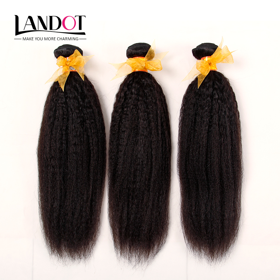 Straight hair perm products - Malaysian Virgin Hair Kinky Straight Landot Hair Product 3 Pcs Yaki Straight Human Hair Weave Bundles