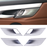 DWCX Car Styling 4pcs Matt Chrome Plated Inner Door Handle Button Cover Trim For BMW X5