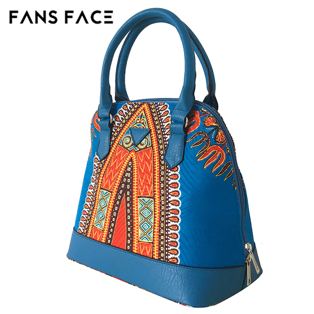 FANS FACE Traditional African Print Bags Female Shopping/Party Luxury Handbags Women Blue Bags Designer afrikanische kleider 3