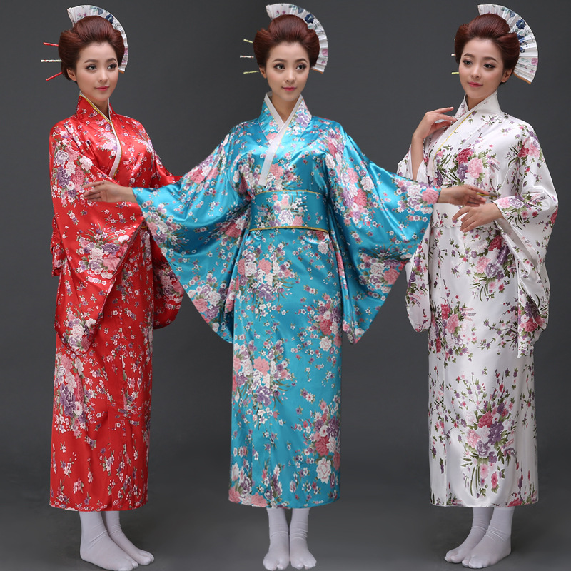 New Arrive Women Jaapani kimono Traditsiooniline kostüüm Naine Yukata koos Bowknot Lady Robe Jaapani iidse riided 12