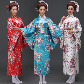 Novedad mujer Kimono japonés tradicional traje femenino Yukata con lazo  señora bata japonesa antigua ropa 12 4ad2cc54b334