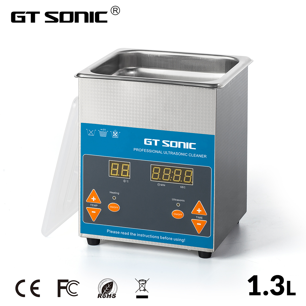 GTSONIC VGT 1613QTD Ultrasonic Cleaner 1 3L 50W with Digital Display Heating Basket Ultrasonic Bath