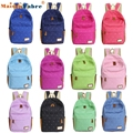 High quality Double-Shoulder Girls Canvas Dots Schoolbag Students Backpacks