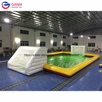 0.9mm PVC durable inflatable football field 13*6m factory direct sale inflatable soccer field for sport game with free air pump