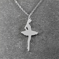 Ballerina Necklace , Dancer Silhouette , Dance Necklace , Ballet Teacher Gift , Ballet Necklace , Christmas Gifts