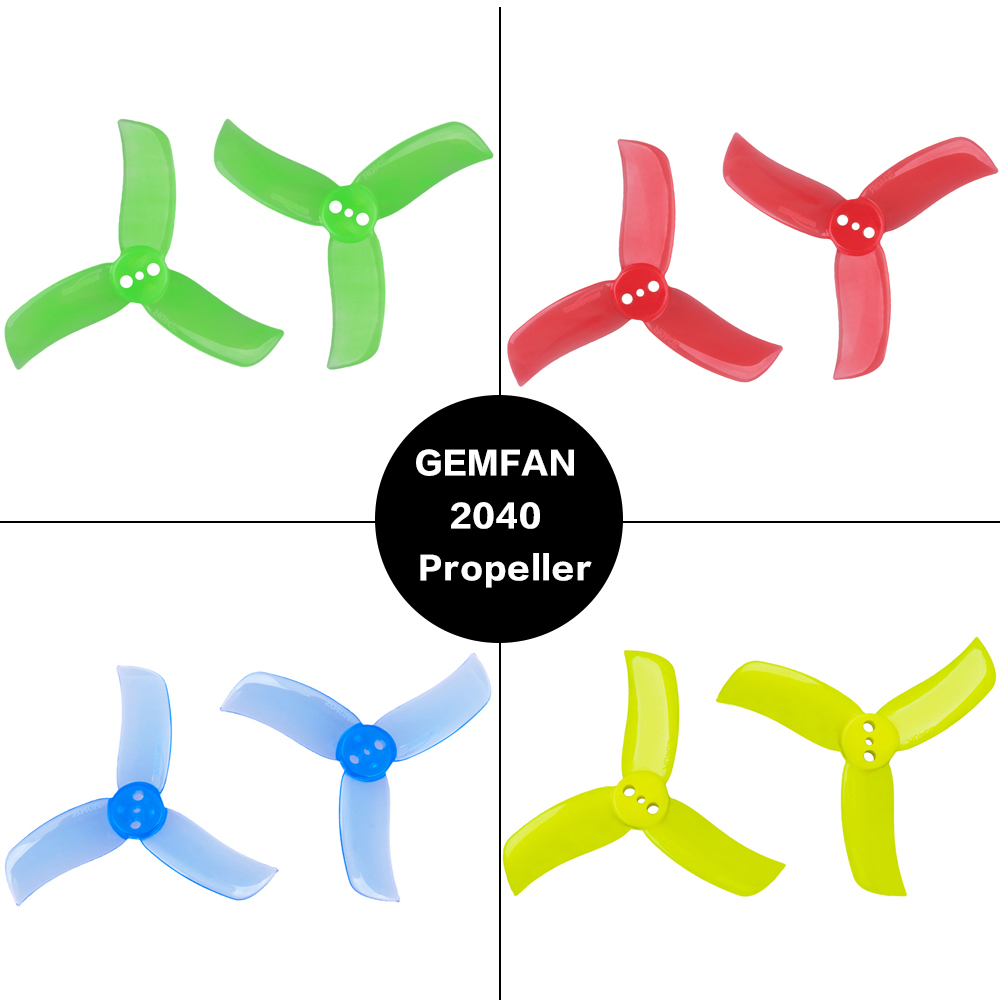 4 Pairs Gemfan Hulkie 2040 2*4mm PC 3-blade Propeller CW CCW for 75-90mm Frame 1103 <font><b>1104</b></font> 1105 <font><b>Motor</b></font> for RC Racer Racing Drone image