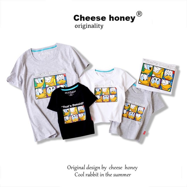 09e827bfe Mother Daughter Matching Clothes Outfits Family T Shirts Duck Pattern Father  Son Matching Clothes for Dad Girl Baby Daughter Set