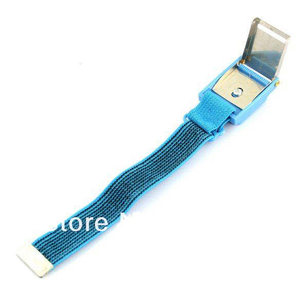 20pcs/lot New Anti Static Antistatic Esd Cordless Wrist Strap Band Blue Free Shipping
