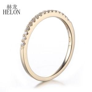 Image 5 - Женское кольцо с бриллиантами HELON Pave, розовое золото 10 к