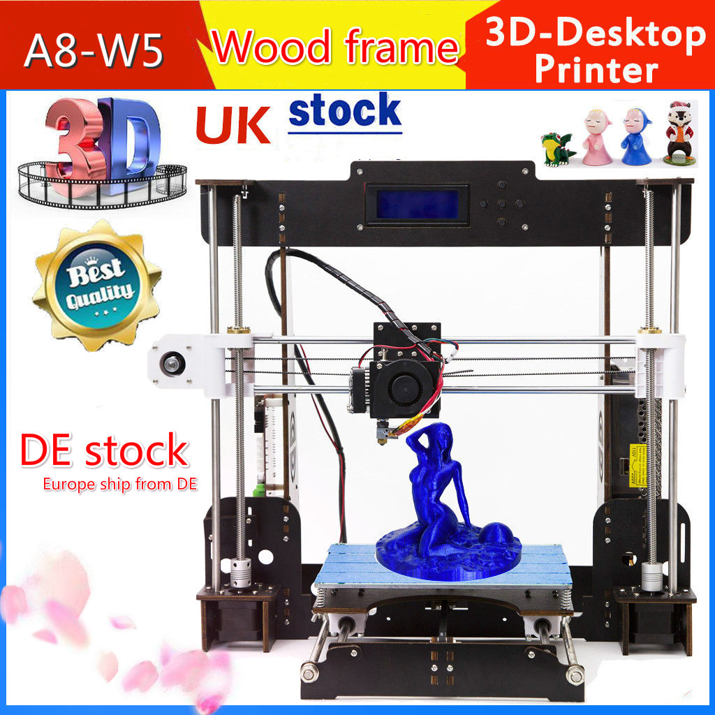 A8 3D printer MK8 Extruders Upgraded High Precision for Beginners PLA / ABS for Student 2018 upgraded full quality high precision dual extruder 3d printer pla abs