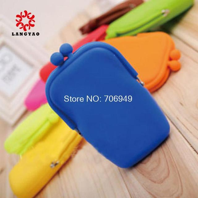6pcs Nolelty Women Silicone Wallet Cute Phone Storage Bag Mini Coin Purses Travel Purses -- BIB034 Wholesale & Retail