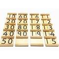 Оригинальные Монтессори Материалы Ребенок Количество Обучающие Деревянная Игрушка Для Семьи Детей Дошкольного Математика Учебные Пособия