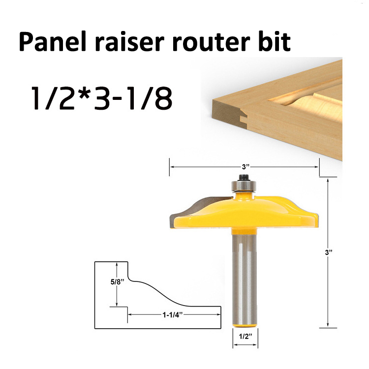 Freeshipping Thumbnail Table Edge Router Bit with Medium 1/2-Inch Shank for Wood carving cutter tool 3pcs set bit table edge thumbnail router bit set 1 2 shank