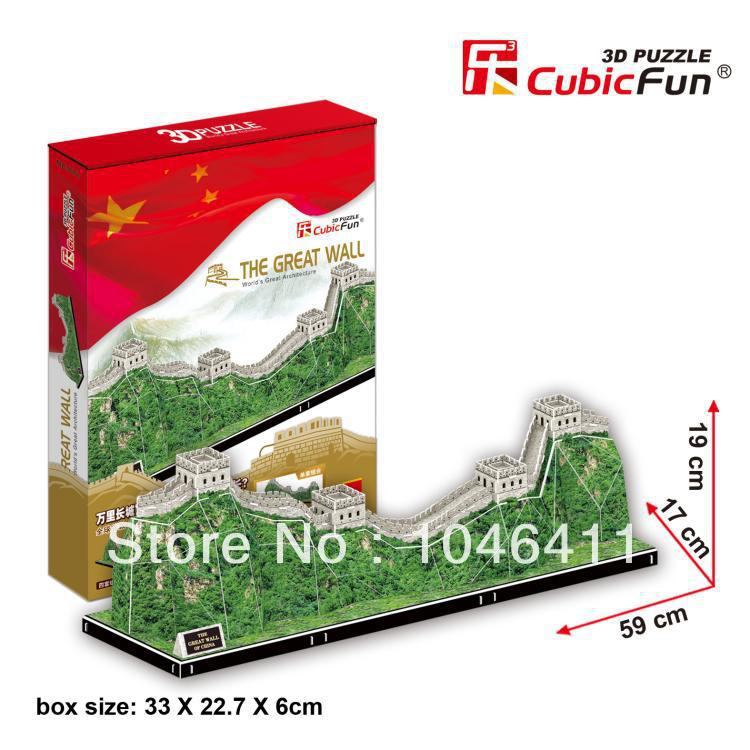 The Great Wall CubicFun 3D educational puzzle Paper & EPS Model Papercraft Home Adornment for christmas gift wat phra kaew cubicfun 3d educational puzzle paper