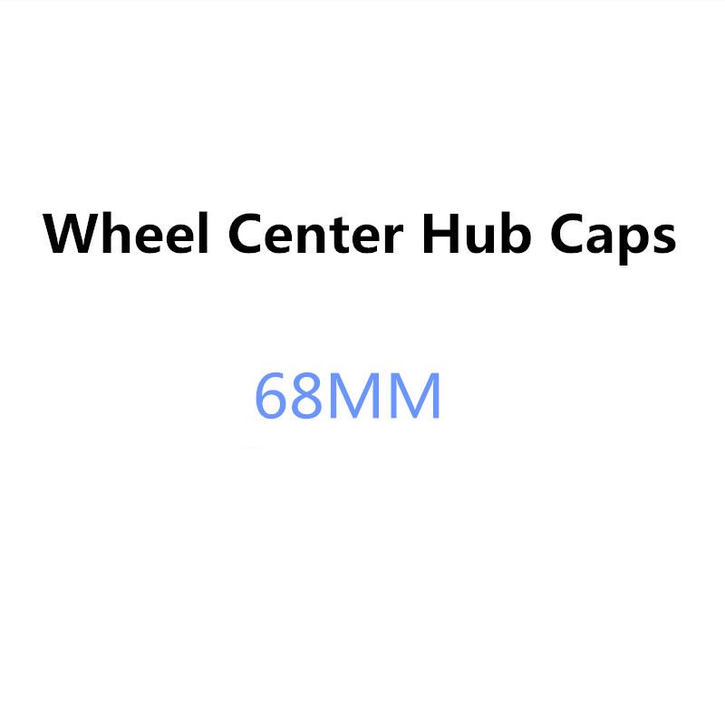 4PCS 68mm Car Wheel Center Cover Hub Cap Accessories For BMW E34 F10 F20 E92 E87 E46 E39 E30 E90 E60 E36 F30 E91 X5 E70 E53 G30 image