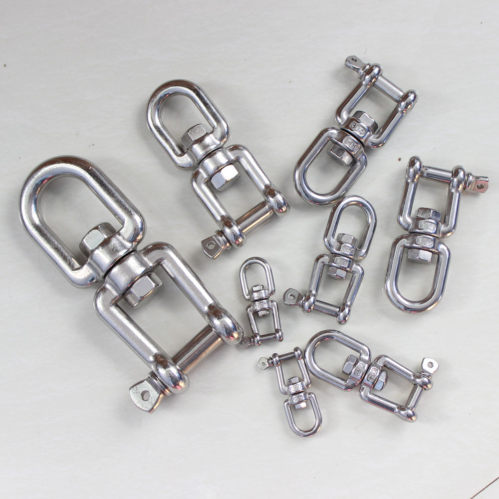 JAW boat yacht chain rope deck 6mm STAINLESS STEEL MARINE SWIVEL JAW
