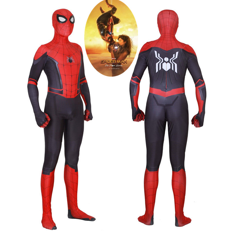 New Movie Spider-Man Far From Home Peter Parker Cosplay Costumes Zentai Spider Man Spider-Man Bodysuits Jumpsuits Suits
