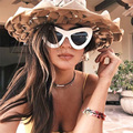 Feidu 2016 new moda mulheres oversize cat eye sunglasses marca designer feminino óculos de sol condução óculos oculos de sol feminino