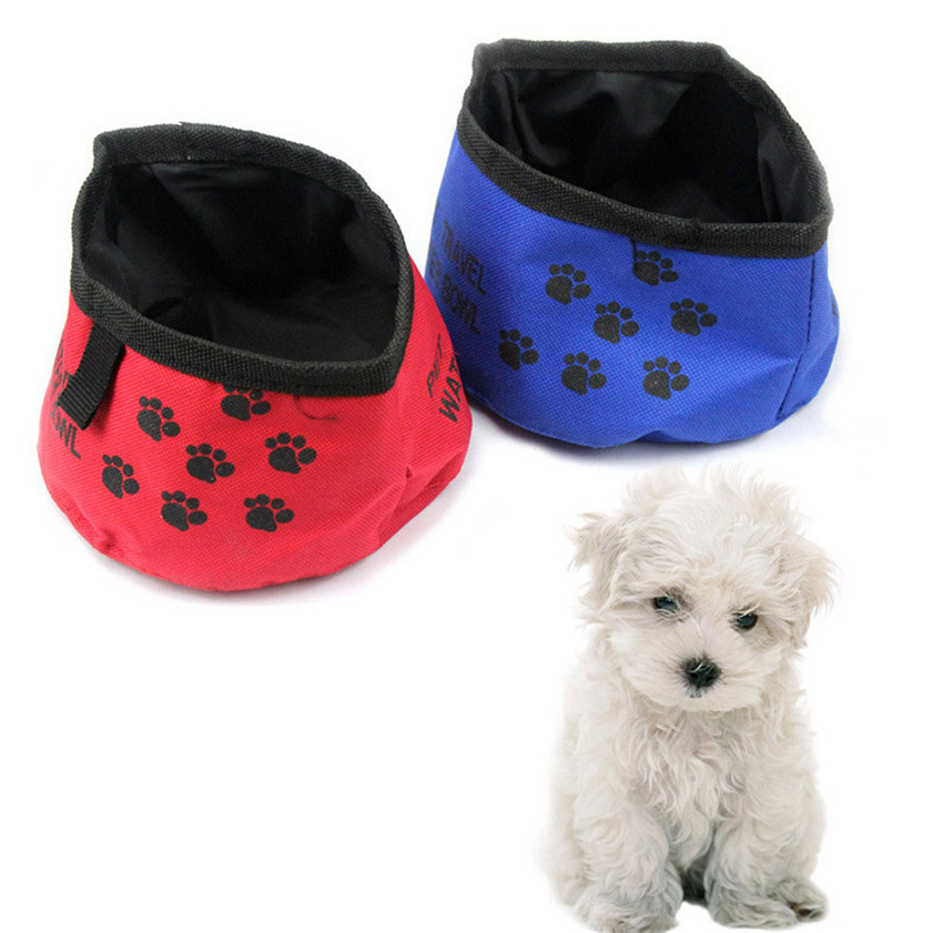 Portable Dog Pet Travel Collapsible Food Water Bowls Pets: Dropshipping Luck High Quality New Portable Folding