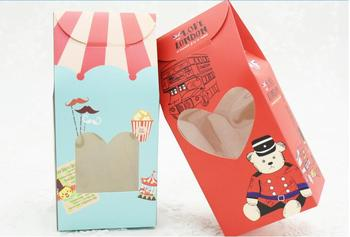 6.5*8*17cm Cake Boxes With Window Biscuit cookie wedding candy Gift Box Free shipping 100pcs/lot