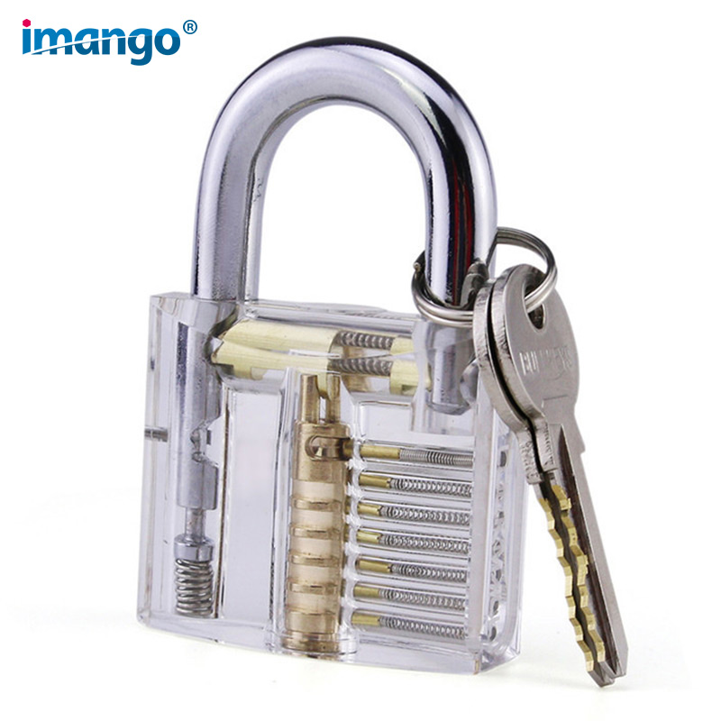 Locksmith Practice Tool Transparent Padlock Industrial Safety Learning Lock Display Lock Technology Visible Internal Structure цена 2017