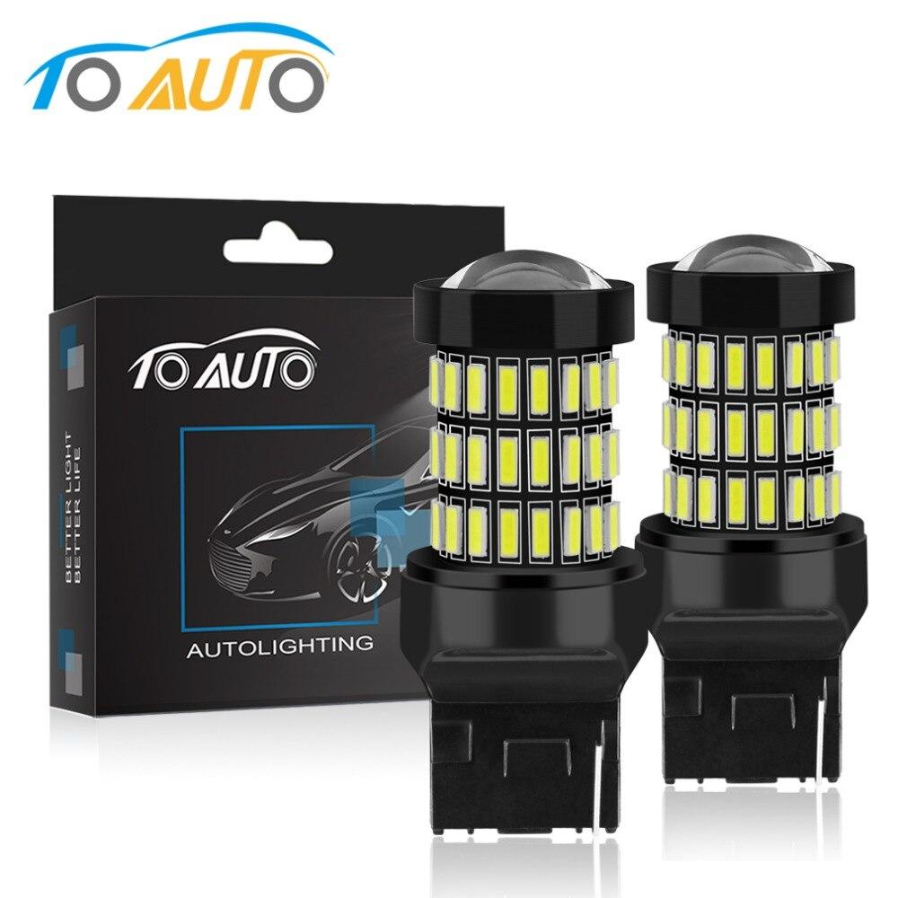 2pcs T20 7440 W21W LED 7443 SRCK W21 5W LED Bulbs WY21W 12V 1200LM Car Lights