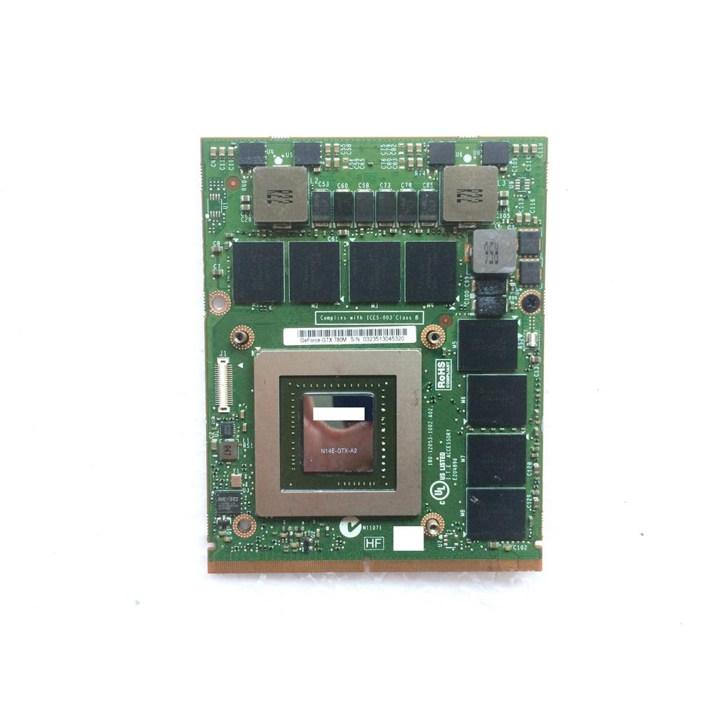 GTX 780m GTX780M 4GB GDDR5 tarjeta de Video VGA N14E-GTX-A2 FJHX2 0FJHX2 para Alienware 15 R1/17 R2