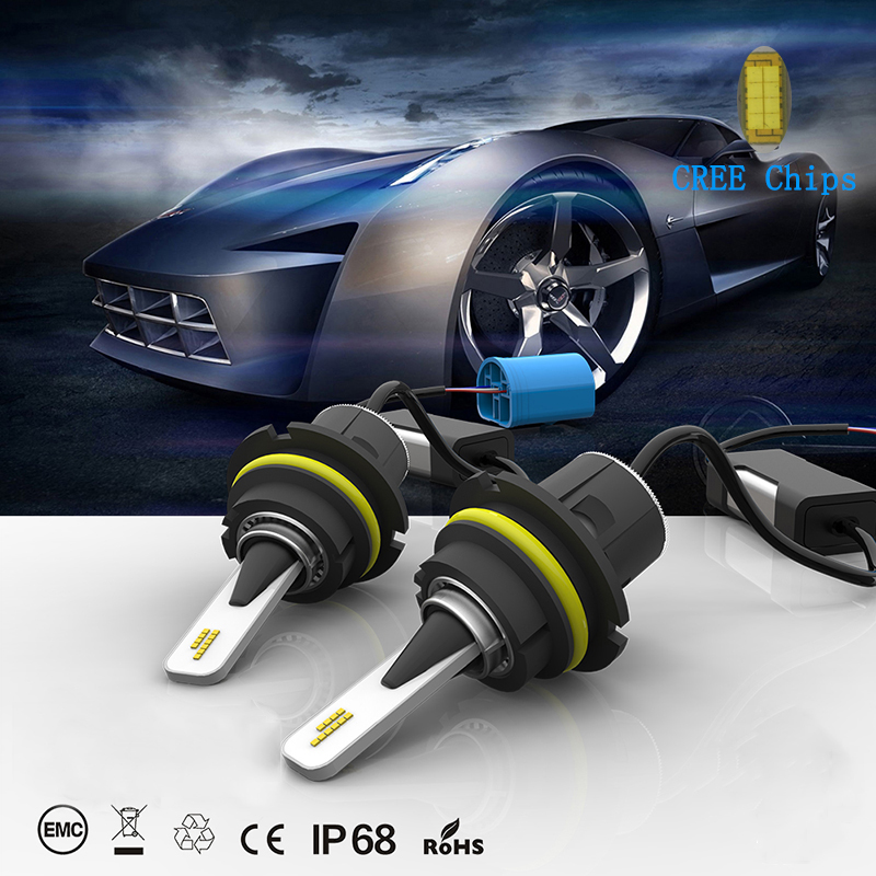JKCOVER H7 LED Phare H1 H7 H11 H4 Salut Lo Faisceau avec SMD Puce 6000 k 60 w 8400LM LED conversion Kit 12 v-24 v pour Toutes Les Voitures Camion
