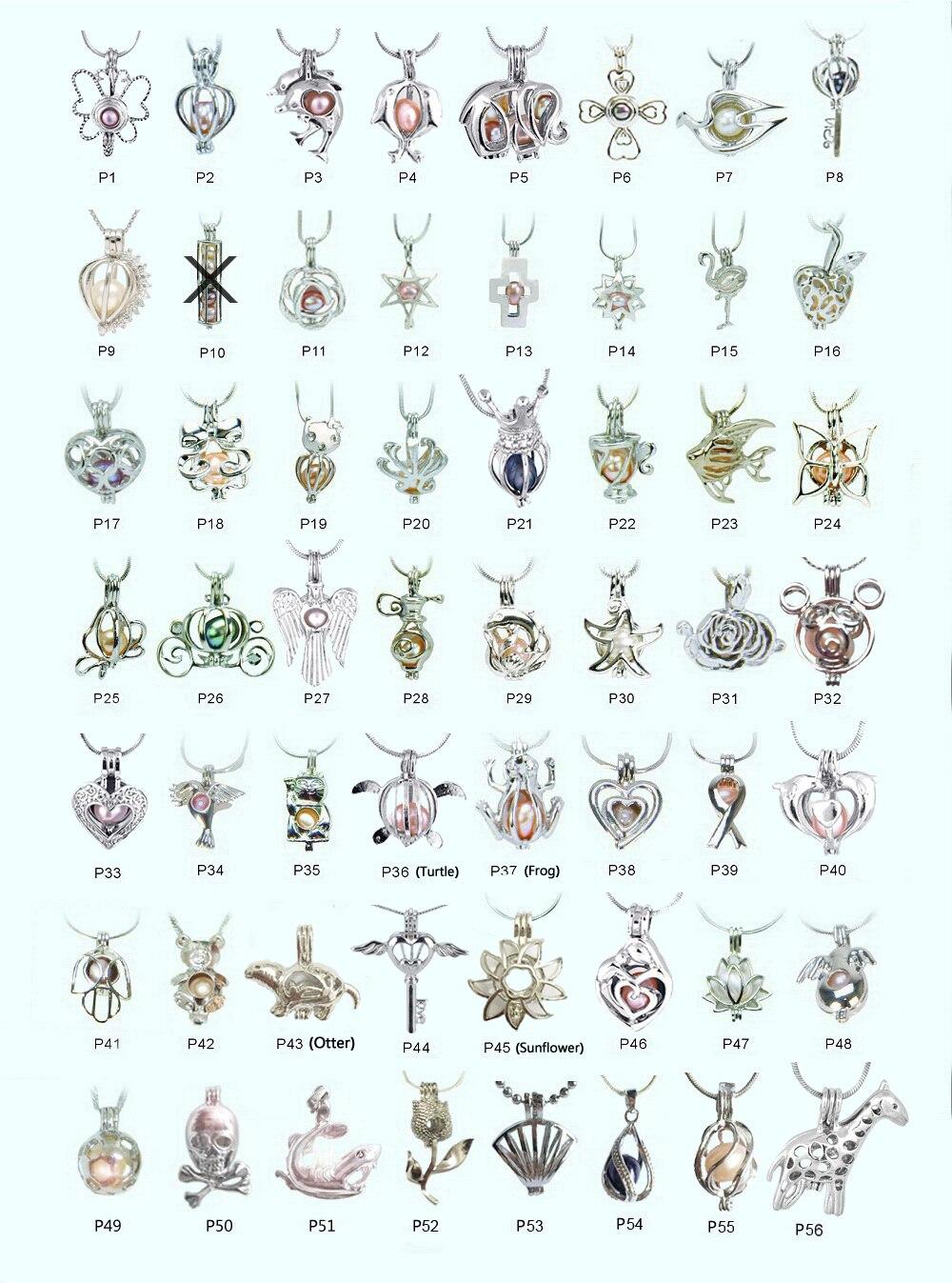 100pcs lot Mixed Design 18kgp pearl cage pendants fashion lovely wish beads locket charm mountings DIY