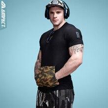 Aimpact хлопок Для мужчин S Футболки для женщин камуфляжным карманом Хип-хоп футболка Для мужчин экипажа Средства ухода за кожей шеи Футболка модная брендовая одежда для мальчиков футболка 2017 A0257