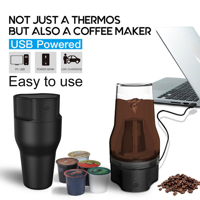 Hot Fashion Electric Coffee Machine Maker USB Portable 550ml For Home Outdoor Travel Cafe US Plug HY99 OC18 6